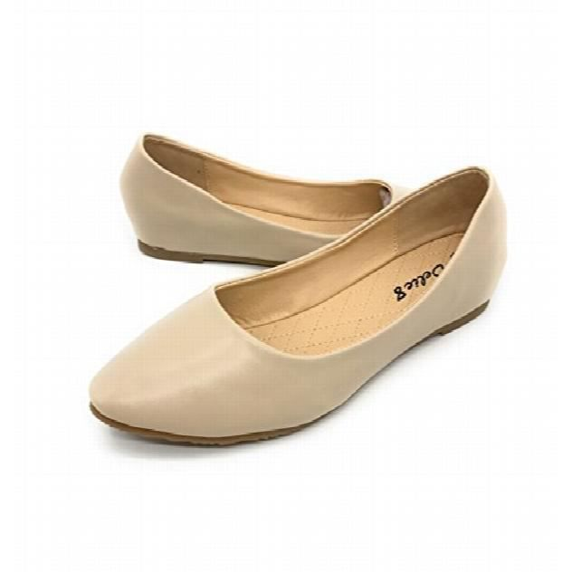 Easy21 Casual Flats Ballet Fashion Shoes Faux Leather FGGWL Taille-38 1-2