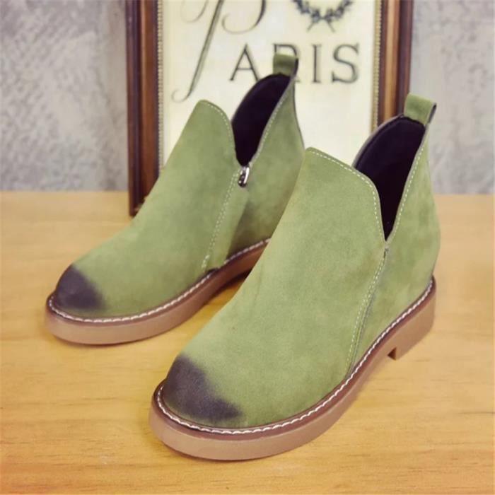 Bottes Femme Bottine Confortable Respirant Chaussure Plus De Couleur Rétro Simple Qualité Supérieure Classique Elégant Mode YiylcSgf0