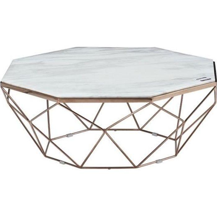 Table Basse Métalmarbre Octo L 100 X L 100 X H 40 Achat
