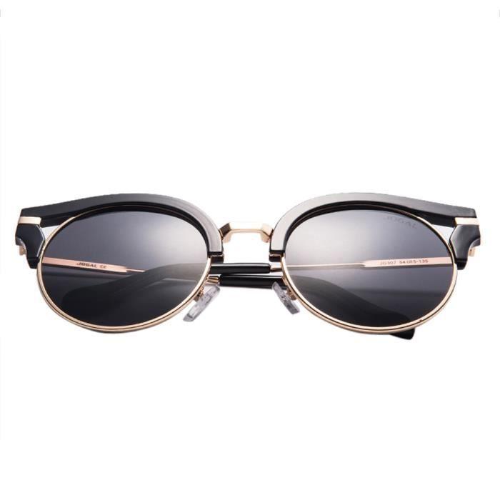 Deuxsuns®Mens Polarized Aviator Lunettes de soleil Lunettes de conduite en plein air Lunettes Lens noir@zf843