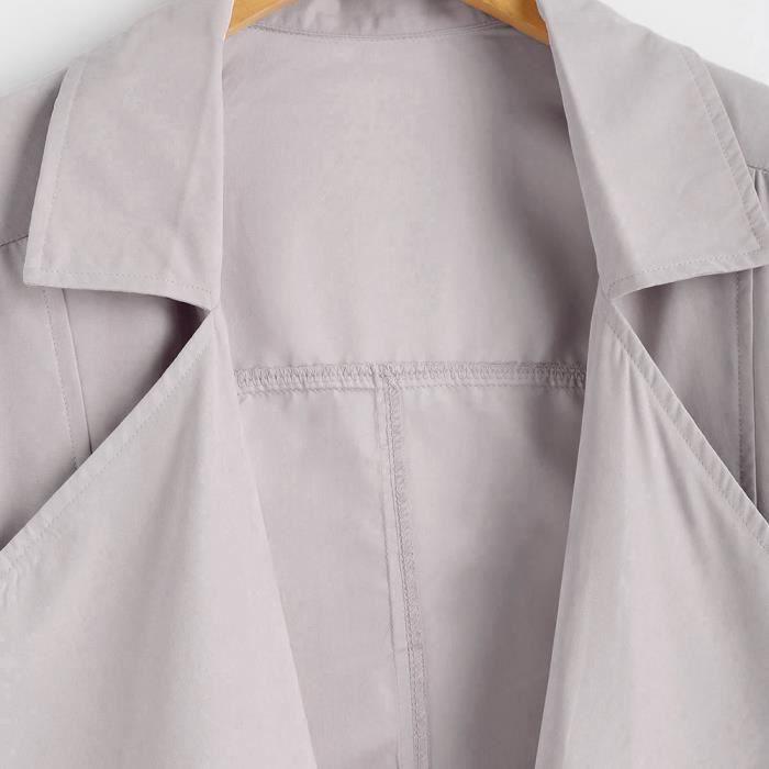 Women Parka Hauts Longues Manches Coupe We9034 Loose Solide Veste vent Manteau Outwear qxBwAZFda