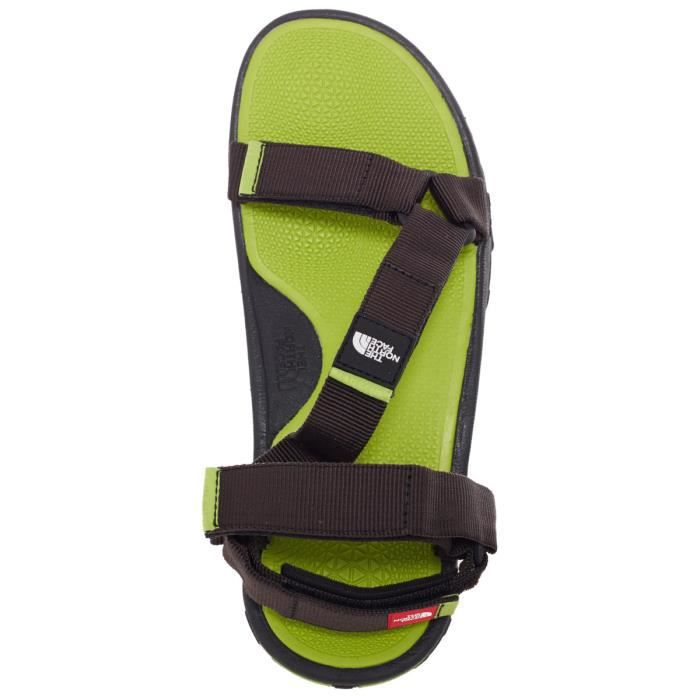 The North Face Sandales Litewave Homme tnf black/macaw green