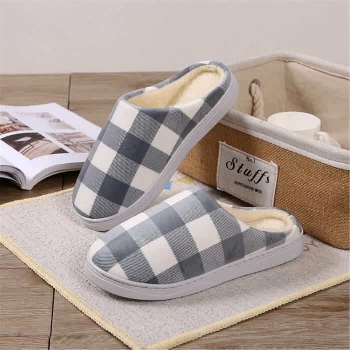 chausson adulte homme pour l'hiver léger version chaussons hommes hiver chaud maison pantoufle Chaussures à se dssx343marron44 9l5jL8