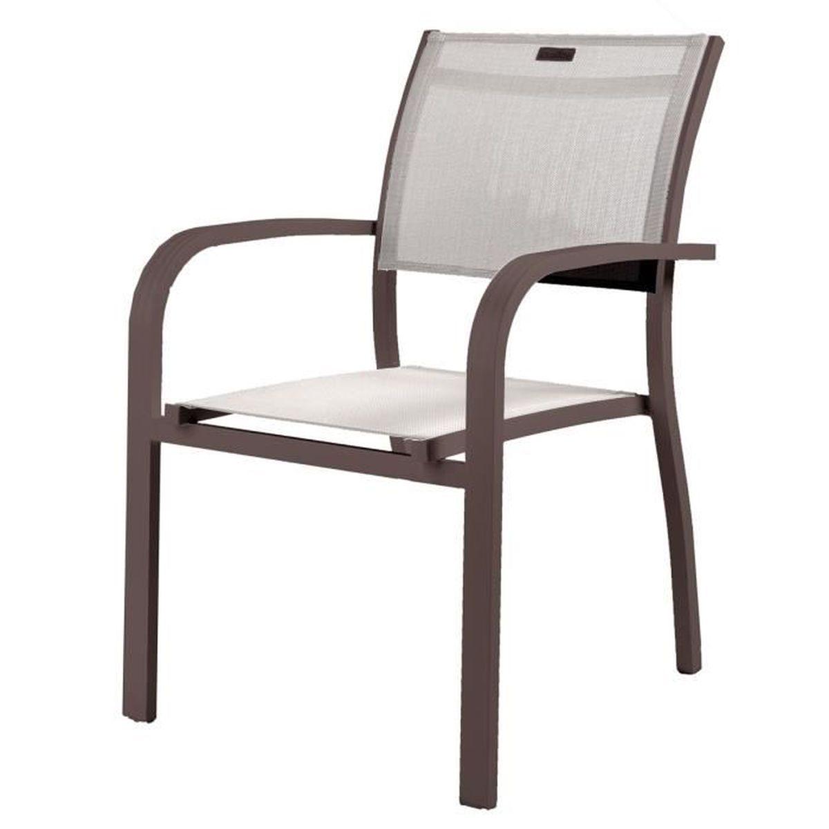 Fauteuil de Jardin Honfleur Noisette Marron - Achat / Vente fauteuil ...