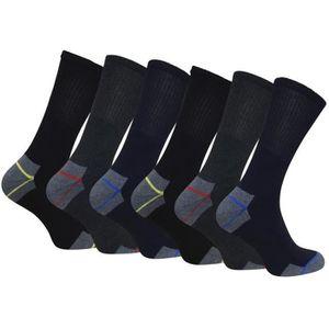CHAUSSETTES 6 paires chaussettes de travail lot homme coton