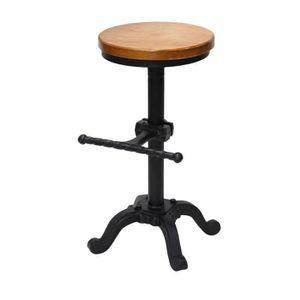 7a6c4c512b4a93 TABOURET DE BAR Tabouret en bois Fer forgé Bar Chaise mode Hauteur
