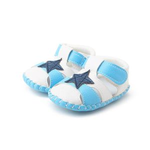 Frankmall®Bébé enfant fille douce berceau semelles Chaussures nouveau-nées sandales BLEU#WQQ0926436 RTn3GW9