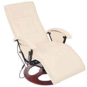 FAUTEUIL Fauteuil électrique de massage Cuir Chaises Fauteu