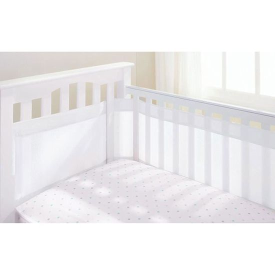 Breathable Baby Tour de lit 4 côtés pour berceau avec circulation de ...