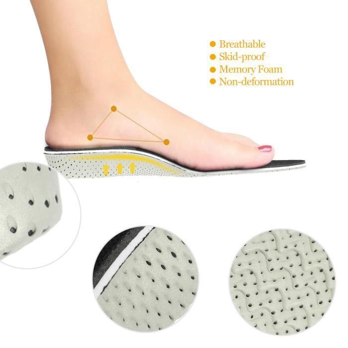 Semelles Memory Chaussures De Hauteur Pour Orthèses Pied Plat Mousse 3cm Anself Respirant 2 Augmente Insole Coussin PukOXZi