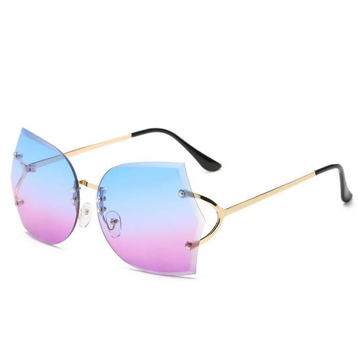 2018 nouvelles lunettes de soleil sans cadre Europe et États-Unis