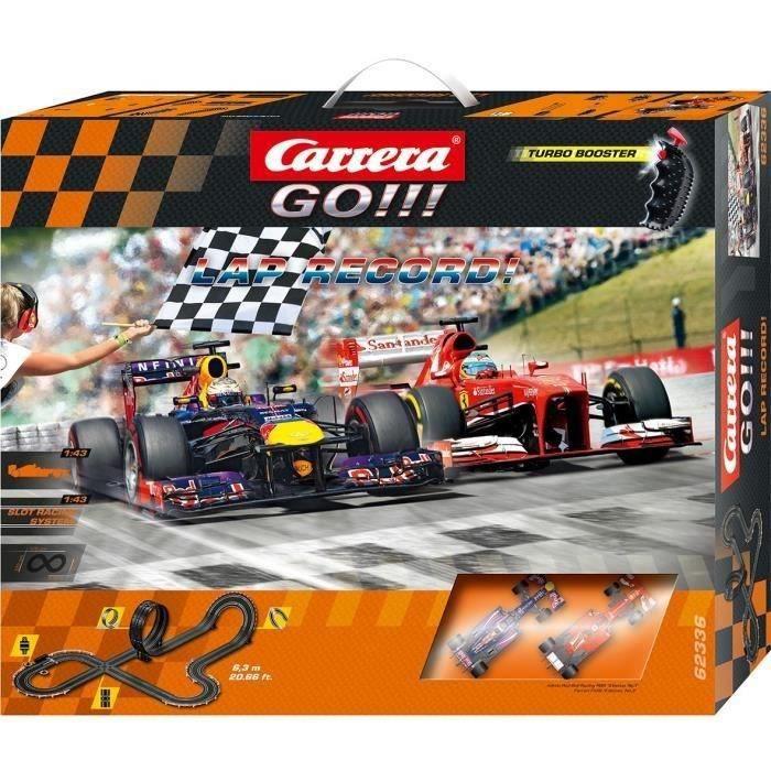 carrera go circuit lectrique 2 voitures formule 1 lap record 1 43 eme environ achat. Black Bedroom Furniture Sets. Home Design Ideas