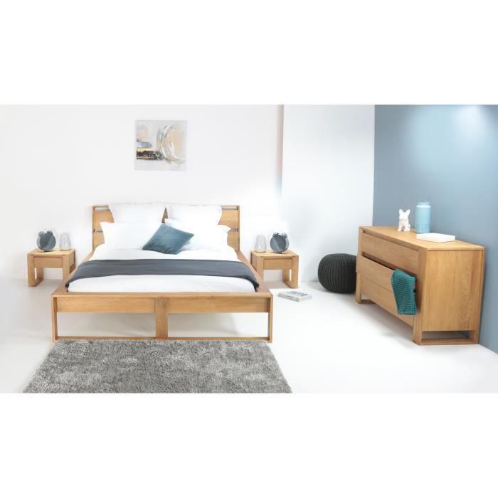 lazy lit adulte 140x200 cm en ch ne massif beige achat vente structure de lit lazy lit. Black Bedroom Furniture Sets. Home Design Ideas