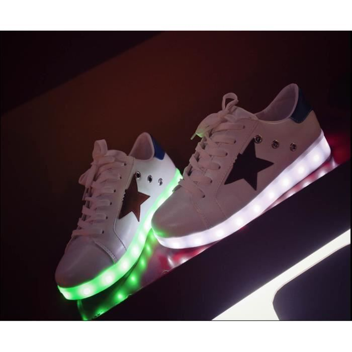7 Couleurs Rechargeable Sneakers Led Lampe Clignotant Fashion OkPTXZiu