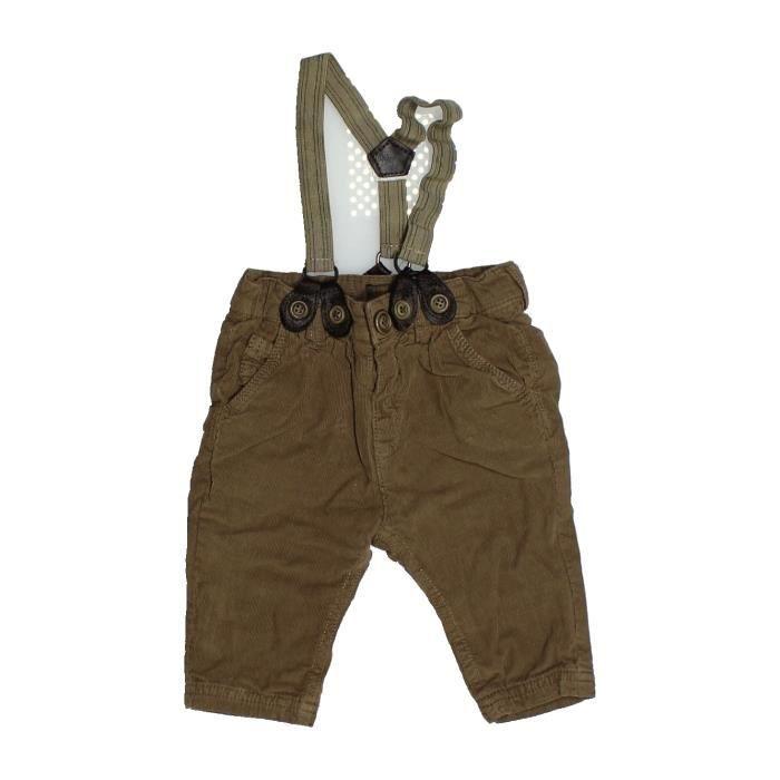 456a307407c40 Pantalon bébé garçon ZARA 6 mois marron hiver - vêtement bébé  1090541