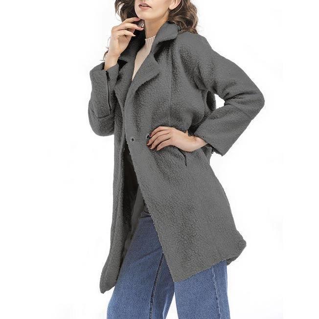 46051921c70f8 ... fourrure chic et à la mode Vêtements moyens Manteau Gris. PARKA Femme-Fille  Parka d'Hiver chaud et épais en fausse
