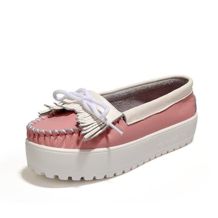 automne bottes talon plateforme hiver femme Chaussures avec plateforme plus unique mode casual femme,blanc,36