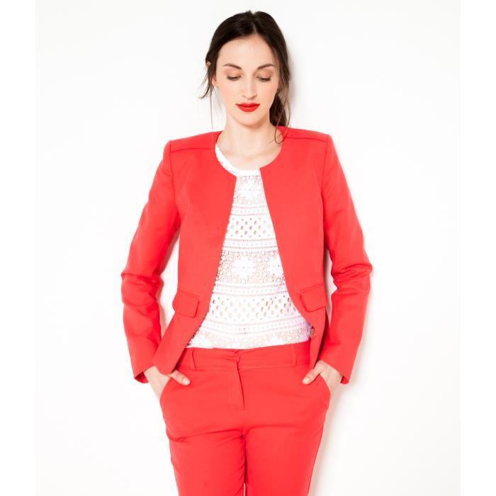 Veste femme rouge camaieu