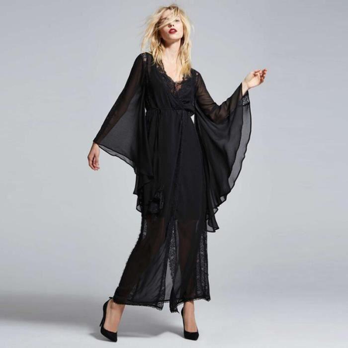 Robe femmes En particulier Sexy Silm élégant de rayure Noir