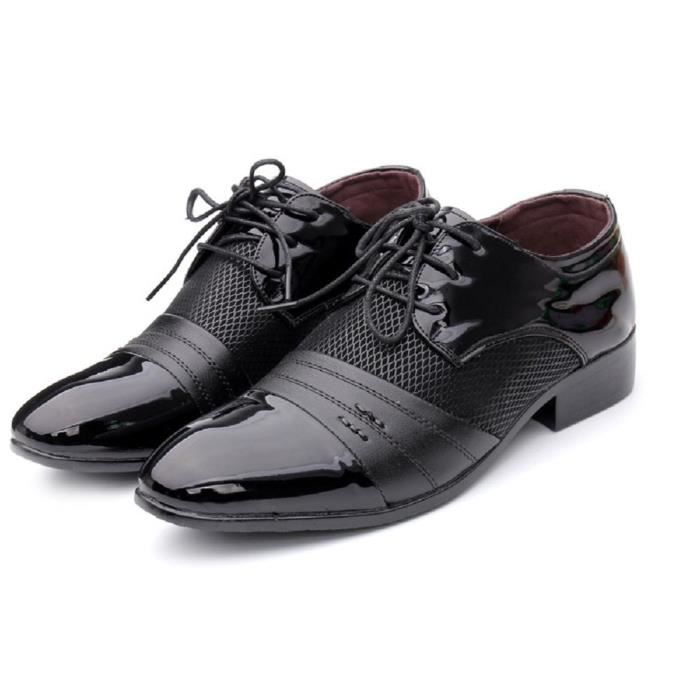 Business Oxford Shoes Lace-up Formal Leather Shoes UUU3R Taille-41 GQw3SWES
