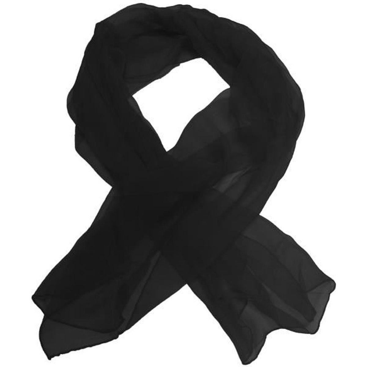 d6ddb99ba6 Foulard en soie noir femme - Achat / Vente pas cher