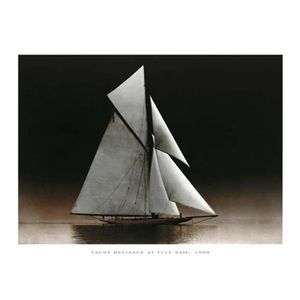 Affiche papier -  Yacht Reliance at Full Sail  - Photography Collection  - 24x30 cm