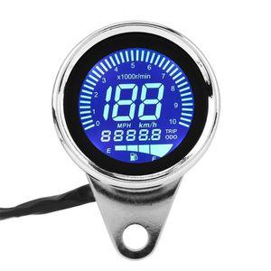 COMPTEUR Tachymètre moto LCD numérique, jauge LED universel