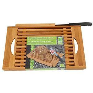 PLANCHE A DÉCOUPER DRULINE planche à découper en bambou avec un coute