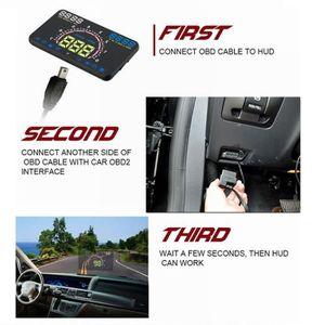 AFFICHAGE PARE-BRISE Écran E350 HUD Head Up Display voiture excès de vi