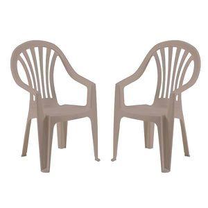 Chaise de jardin taupe - Achat / Vente pas cher