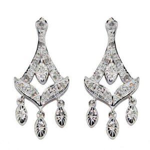 Boucle d'oreille Boucles d`oreilles pendantes - Femme - Or blanc 9