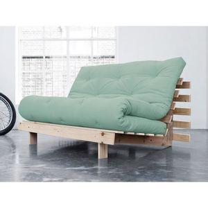 FUTON Banquette convertible en bois avec matelas futon R