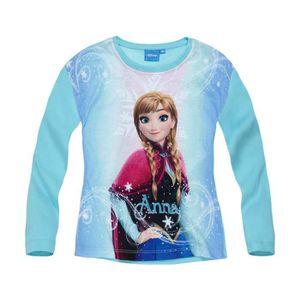 T-SHIRT Disney La Reine des neiges   Tee-shirt manches lon