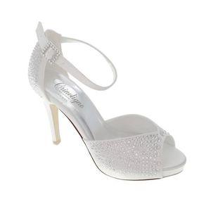 ESCARPIN Chaussure mariage MIAMI CRINOLIGNE 35 BLANC