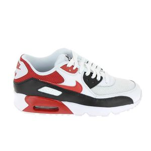 new products 899e2 66462 BASKET NIKE Air Max 90 Mesh Jr Blanc Rouge 833418 107