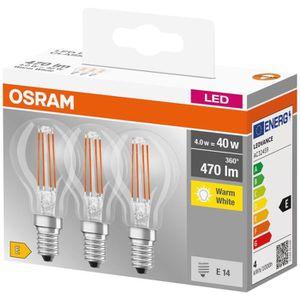 AMPOULE - LED OSRAM Lot de 3 Ampoules LED E14 sphérique claire 4