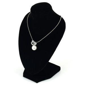 5dbc77a721f41 Présentoir bijoux Velours Noir Mannequin Collier Pendentif Bijoux Pr ...