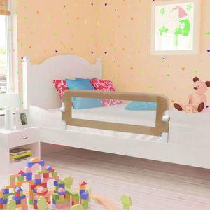 BARRIÈRE DE LIT BÉBÉ vidaXL Barrière de sécurité de lit enfant Taupe 12