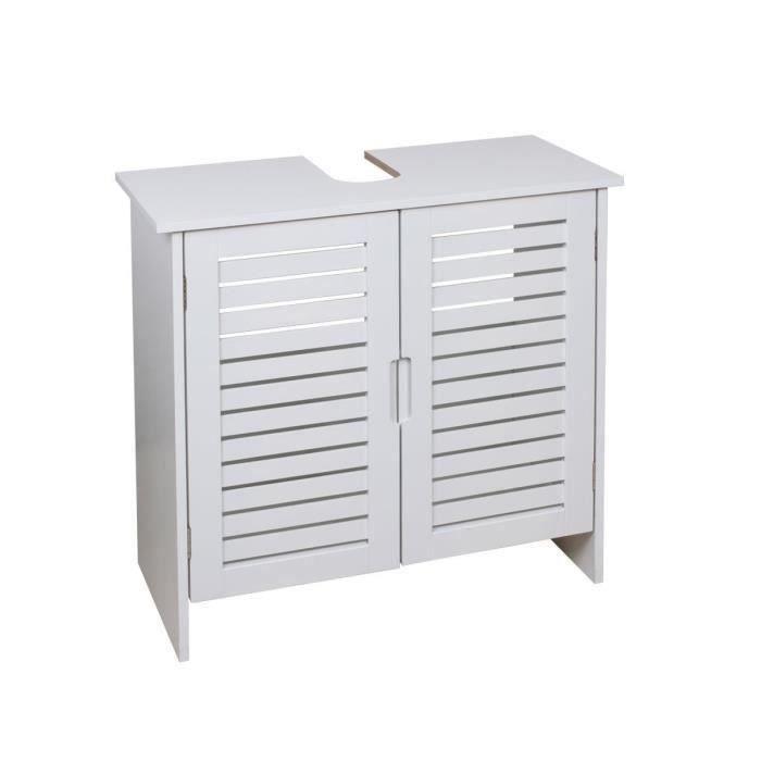 linda meuble sous lavabo l 60 cm blanc mat achat. Black Bedroom Furniture Sets. Home Design Ideas