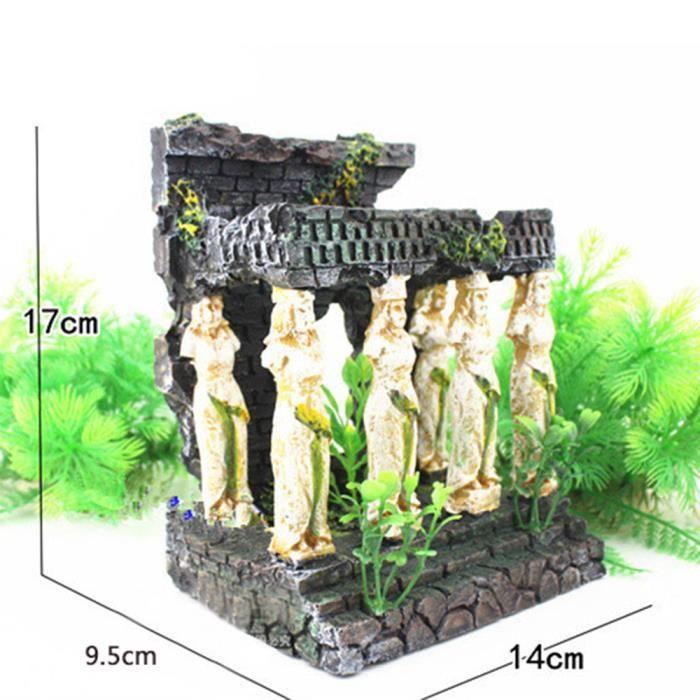 Ruines Du Temple Romain Aquarium Décoration Réservoir Fish Hiding Cave Ornement _gzs * 213