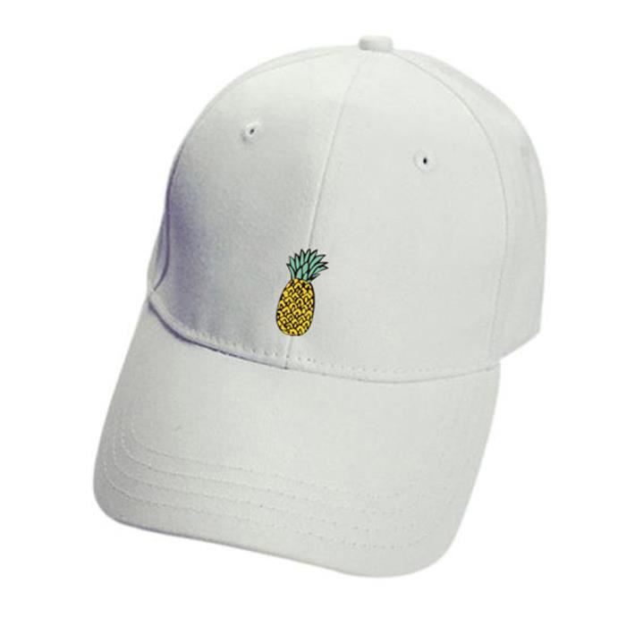 b54cee4d32 Ananas unisexe Chapeaux Hip-Hop réglable Peaked Chapeau Casual Casquette de  baseball WH-LXX70629201WH_3780
