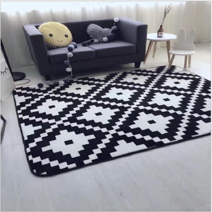 tapis de salon graphique achat vente pas cher. Black Bedroom Furniture Sets. Home Design Ideas