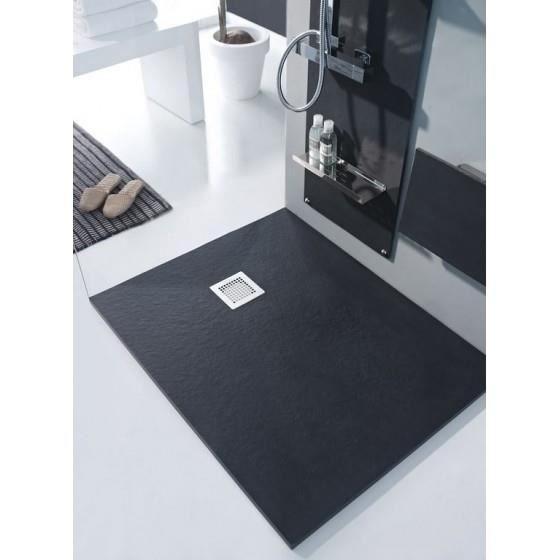 bac de douche piedra noir 90x160 achat vente. Black Bedroom Furniture Sets. Home Design Ideas