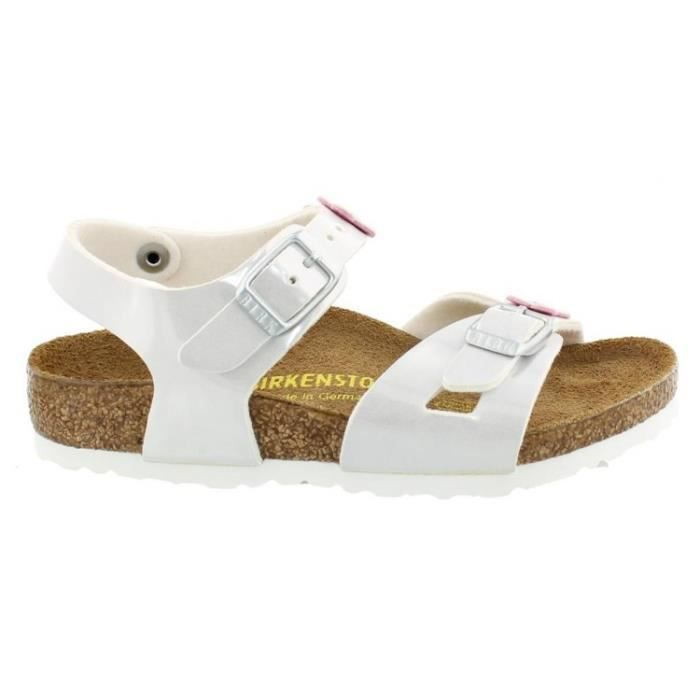 Sandales Birkenstock Rio Pearly White Enfants Taille 26