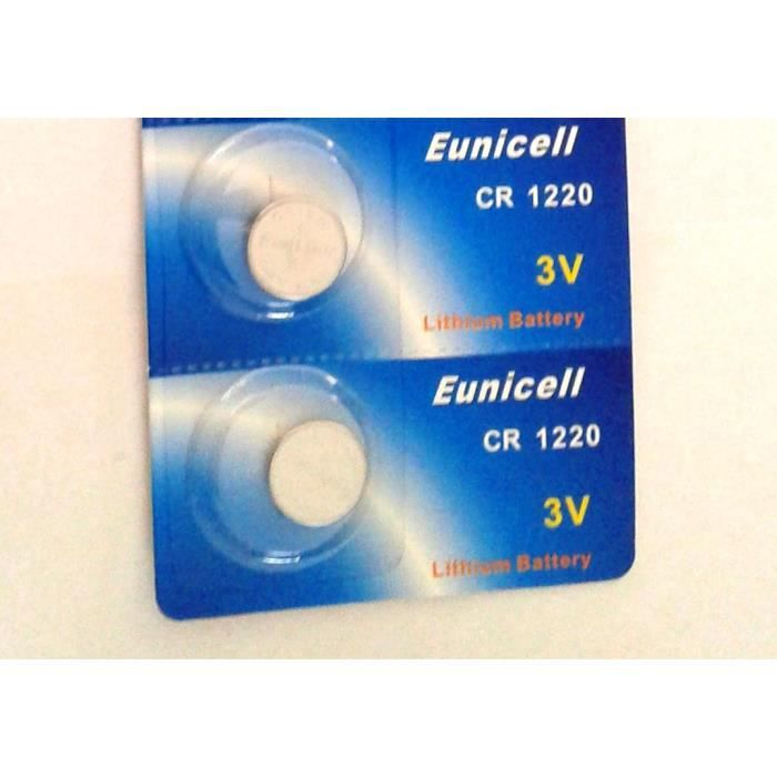 EUNICELL 2 Piles Lithium CR1220 BR1220 DL1220 ECR1220 PA 5012LC ... 719120936496