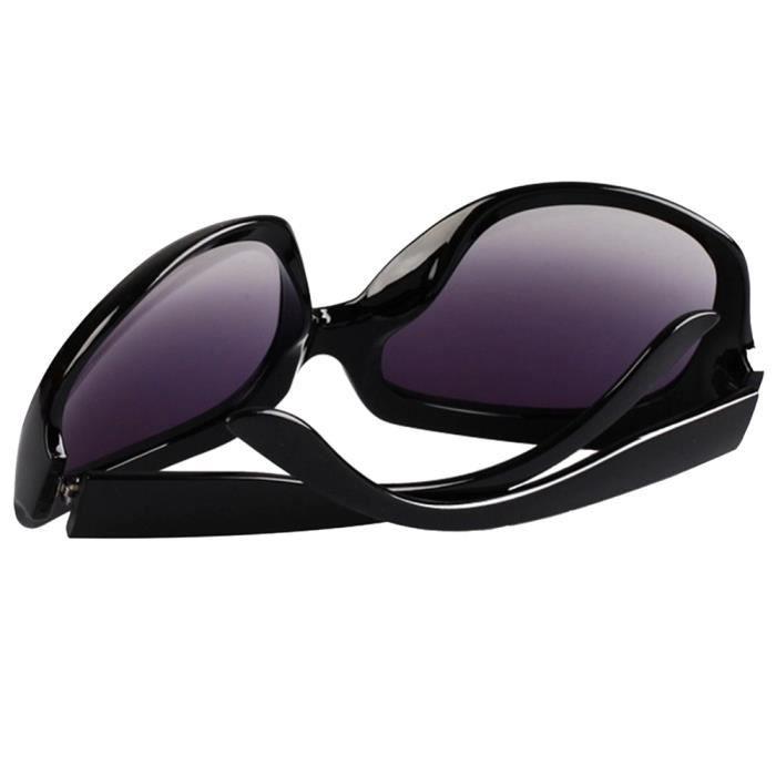 Sexy Modes Grandes Classiques Lunettes de soleil pour femmes dames Lunettes pour faire les courses Noires