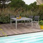 Salon de jardin Alu Textilène 8 places Gris FLO… - Achat ...
