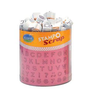 TAMPON DÉCORATIF Set de 100 tampons mousse - Mini Alphabet