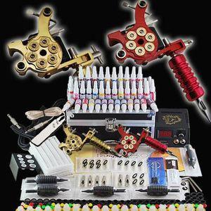 KIT TATOUAGE Tatouage kit Machine à Tatouer Deux pistolets de T
