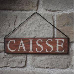 OBJET DÉCORATION MURALE Plaque Enseigne de Porte Murale de Caisse Rouge 40